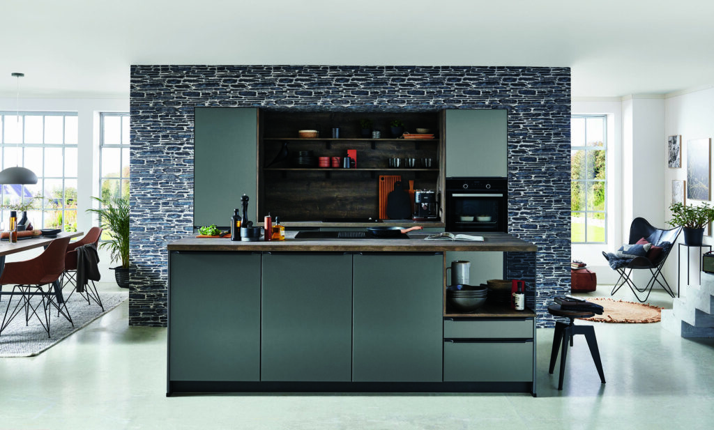 Nobilia Grey Metallic Look Compact Handleless Kitchen 2021   Lead Wolf Client Site, Wansford